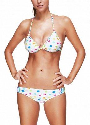 Women Sexy Bikini Set Dot Striped Print Punge V Neck Hater Padded Wireess Two Piece Swimsuit_1