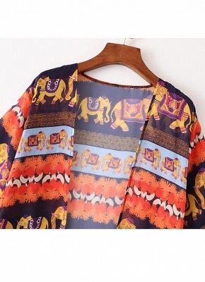 Summer Cardigan Elephant Print Boho Loose Women's Kimono_5