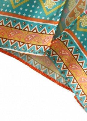 Chiffon Open Front Geometric Print 3/4 Batwing Sleeve Thin Kimono_6
