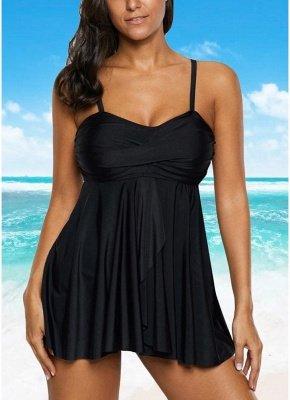 Women Sexy Bikini Set Strappy Ruched Wireless Swimwear Beach Wear Two Piece_3