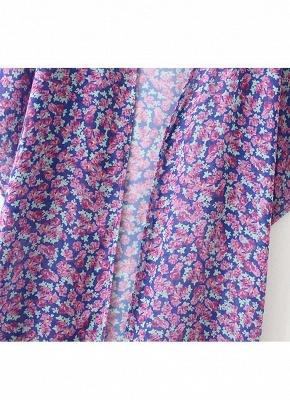 Bandeau Vintage Flower Print Padded One Piece Tankini Swimsuit_7