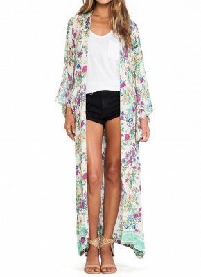 Women Chiffon Loose Cardigan Casual Outerwear_1