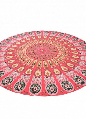 Round Beach Towel Bohemian Printed Tapestry Throw_4
