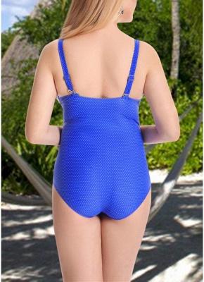 Women Plus Size One Piece Swimsuit Open Back  Monokini_4