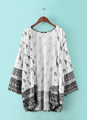 Women Cardigan Long Sleeve Kimono_1