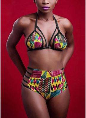 Women Sexy Bikini Set Printed Swimwear Swimsuit Padded Two Piece Bathing Suit Beachwear_1