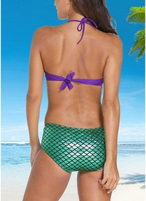 Mermaid Custom Underwire Push-Up Padded Sexy Bikini Set_4