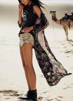 Women Chiffon Loose Cardigan Casual Outerwear_2