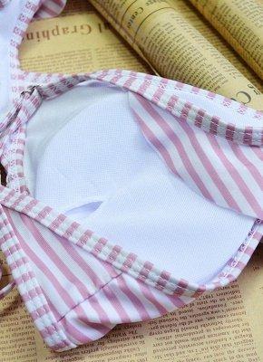 Women  Ruffles Bandage Sexy Bikini Set Swimsuit_5