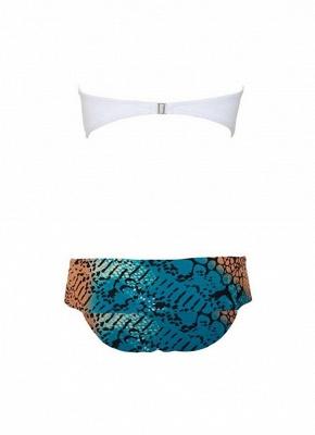 Women Swimsuit Strapless Underwire Bra Contrast Color Sexy Bikini Swimwear Bathing Suit_4