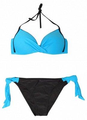 Women Printed Push-Up Sexy Bikini Set Halter Top Two Piece Swimsuit Tie Side Swimwear_8