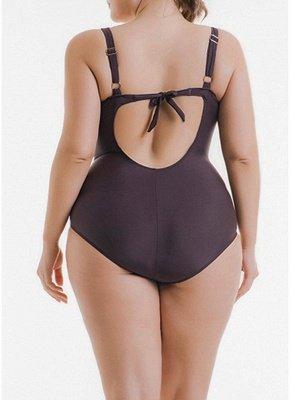Women Plus Size One Piece Swimsuit Leopard Print Monokini  Swimwear_3