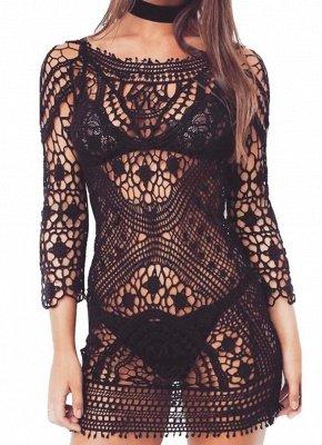 size Crochet Lace Floral Bohemia Women  Sexy Bikini Cover Up_2