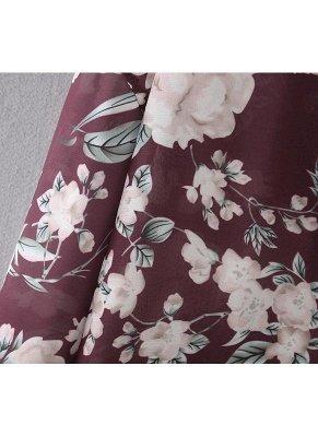 Women Long Beach Cover Up Chiffon Kimono_7