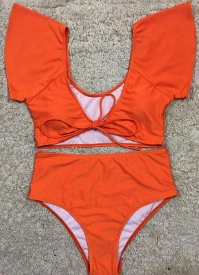 Women Sexy Bikini Set Swimsuit Push Up  Solid&Leopard&Stripe Bandage Beach Wear Swimwear_2