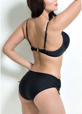 Plus Size Solid Underwired Sexy Bikinis_4