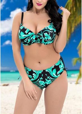 Contrast Print Underwire Sexy Bikini Set_4