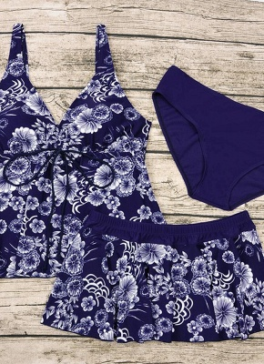 10xl Plus Size Floral Print Spaghetti Strap Summer Swimsuit_6