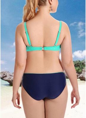 Women Plus Size Two Piece Sexy Bikini Set Triangular Spaghetti Strap Swimwear_4