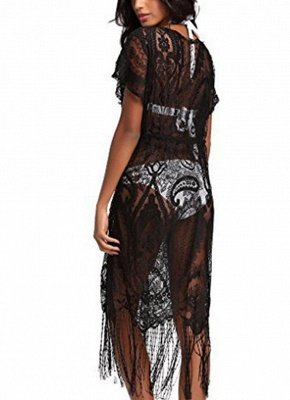 Women Swimsuit Lace Cover Up Tassel Bandage Holiday Beach Wear Swimwear Overall?_3