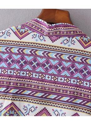 Bohemian Fashion Chiffon Geometric Print Loose Women's Kimono_7