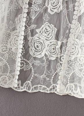 Women Vintage Lace Crochet Beach Cardigan_8