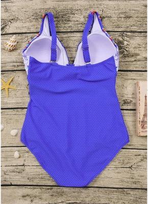 Women Plus Size One Piece Swimsuit Open Back  Monokini_7
