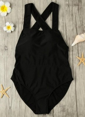 Backless Cross Strap Padded One Piece_3