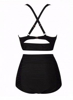 Plus Size Ruched Push Up Sexy Bikini Set_8