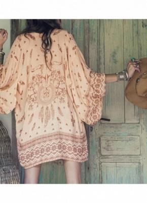 Women Summer Shirt Kimono Beach Cover Up Outerwear_4