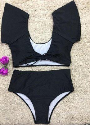 Women Sexy Bikini Set Swimsuit Push Up  Solid&Leopard&Stripe Bandage Beach Wear Swimwear_6