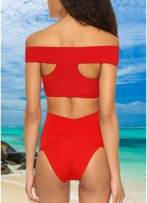 Women Sexy Bikini Set Cross Over Wireless Solid Swimwear Swimsuits Beach Wear Two Piece_3
