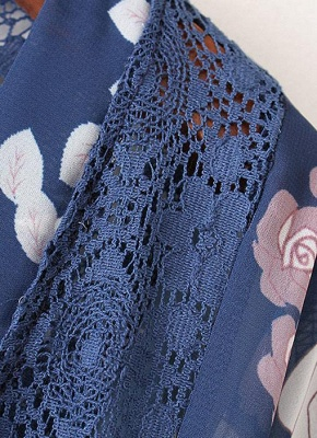 Summer Chiffon Cardigan Floral Print Hollow Out Women's Kimono_6