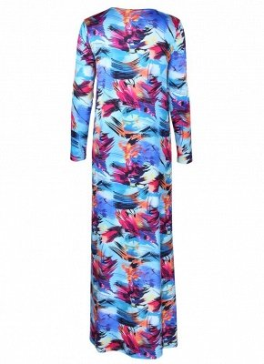 Women Floral Paint Two Piece Set Swimsuit Beach Cover Up Swimwears_7