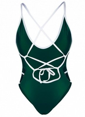 Women One Piece  Bandage Monokini Backless Swimsuit Beach Wear_7