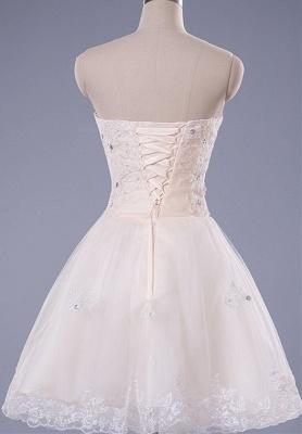 Gorgeous Strapless Sleeveless Short Homecoming Dress UK With Beadings Lace_4