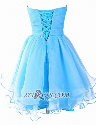 Pretty Semi-sweetheart Sleeveless Short Homecoming Dress UK Lace-up Crystals Organza Cocktail Gown_3