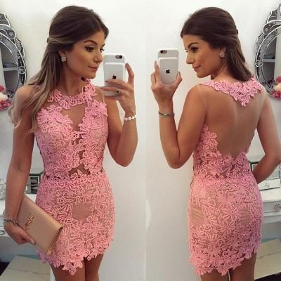 Pink Sleeveless 2019 Homecoming Dress UK | 2019 Short Party Dress UK Online_3