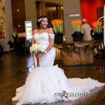 Plus-Size Lace Cap-Sleeve Appliques Sexy Mermaid Gorgeous Wedding Dress_1