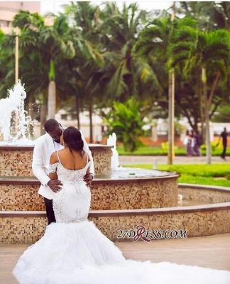 Plus-Size Lace Cap-Sleeve Appliques Sexy Mermaid Gorgeous Wedding Dress_2
