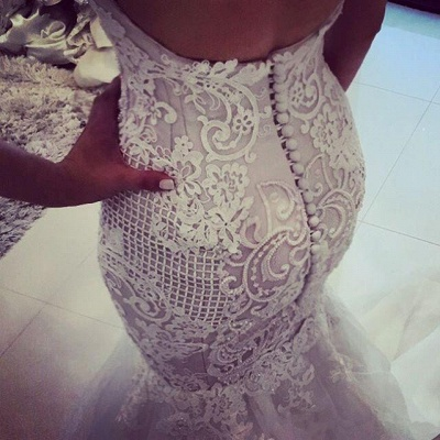 Elegant Off-the-Shoulder Sexy Mermaid Wedding Dress | Tulle Bridal Gowns_4