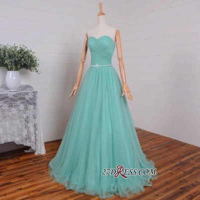 Beading Sweetheart A-line Sleeveless Romantic Evening Dress UK_3