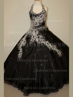 Discounted Wholesale Ball Gown Girls Pageant Dresses Beaded Crystal Online_3
