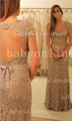 Sheath Backless Vestidos Formal Prom Dress UK One Shoulder Waistband Lace Prom Gowns With Sequined Beading_1