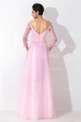 Modern Off-the-shoulder A-line Evening Dress UK Crystals Zipper Floor-length_3