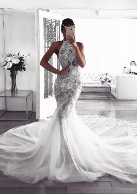 Pretty Halter Sexy Mermaid Wedding Dress | 2019 Lace Bridal Wears_1