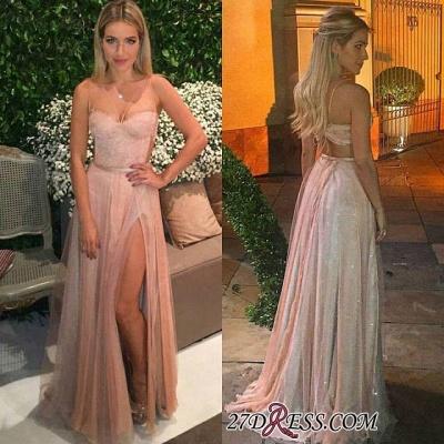 Tulle Backless Spaghetti Lace Prom Dress UKes UK Elegant Side-Split Party Dress UK cc0005_1