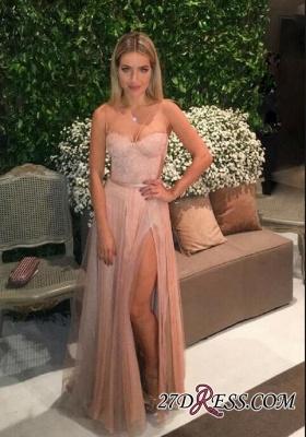 Tulle Backless Spaghetti Lace Prom Dress UKes UK Elegant Side-Split Party Dress UK cc0005_4