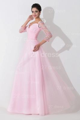 Modern Off-the-shoulder A-line Evening Dress UK Crystals Zipper Floor-length_2