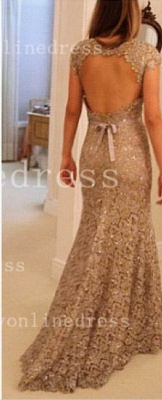 Sheath Backless Vestidos Formal Prom Dress UK One Shoulder Waistband Lace Prom Gowns With Sequined Beading_2